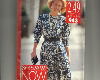 Butterick Misses' Dress Pattern 943