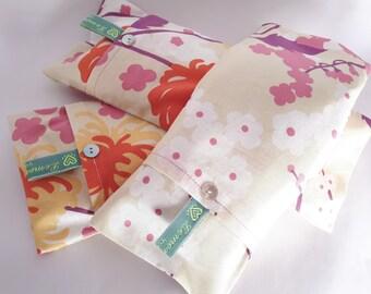 Soothing Lavender Eye Pillows - Lemon Flower Pattern