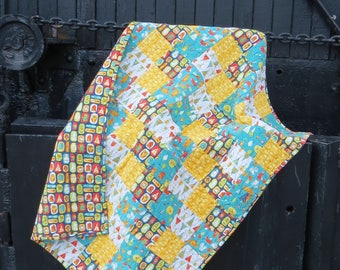 Woodland Baby Quilt   Woodland Nursery   Woodland Blanket   Handmade Baby Quilt   Neutral Baby Quilt   Neutral Blanket   Baby Boy Blanket