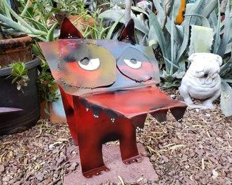 Jarvis the Welded Dog - Yard Art Garden Decor