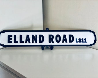 Vintage football street/road signs