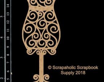 Scrapaholics Chipboard - Dress Form 3