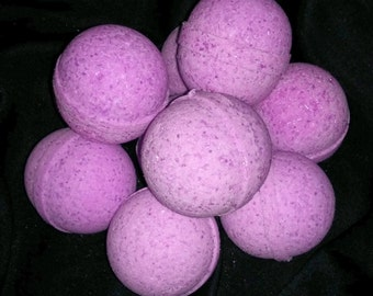 Lavender Bath Bombs 4.5 oz, Baby Shower Favor, Spa Party Favor, Thank You Gift for Her, Bachelorette Party Favor, Purple Bath Bomb Fizzy