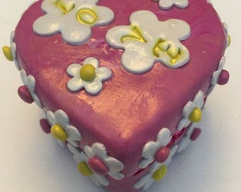 Love Is All We Need Polymer Clay Trinket Box