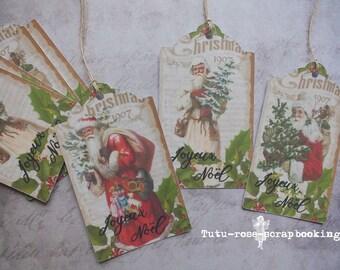 Weihnachten 12 Große Vintage Victorian Shabby Chic Für Geschenkverpackungen  Stichwörter, Scrapbooking, Karte Machen,