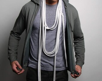 Light Gray Scarf, Gray Scarf, Gifts for Dad, Gifts For Fathers, , Boyfriend, Boyfriend Gift, Gift ,  idea