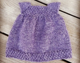 The Dahlia Dress Pattern, Doll Dress, PDF file, Knitting Pattern