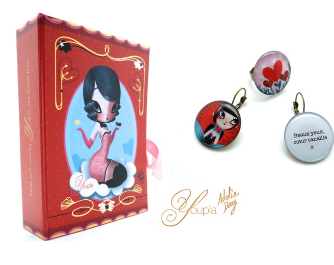Box Juliet - Youpla Adolie Day - ring & earrings / Valentine's day