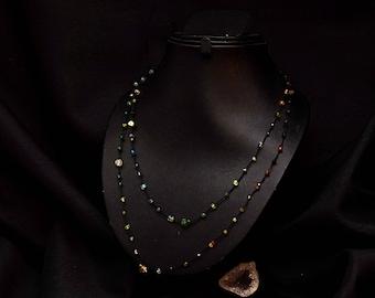 Multi beads necklace fine Kiabate