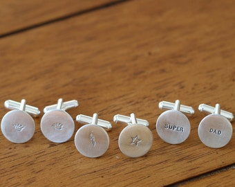 Personalized Mens Cuff Links, custom cufflinks W0418
