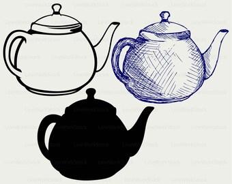 Teapot ceramics svg/drink clipart/teapot svg/teapot silhouette/teapot cricut cut files/teapot clip art/digital download svg/eps/png/jpg