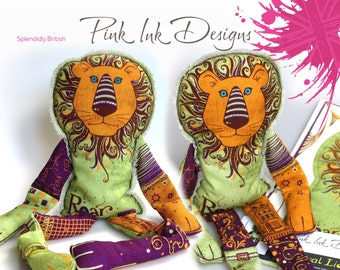 Lion sewing pattern. Zoo, roar, make your own beanie lion.