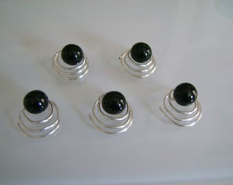 lot 5 spiral black pins/clips/pins/hair accessories short/detached p (cheap) bridal/wedding/evening dress
