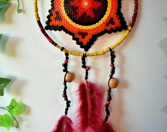 DreamCatcher mandala hama bead pachambra nature Bohemian decor