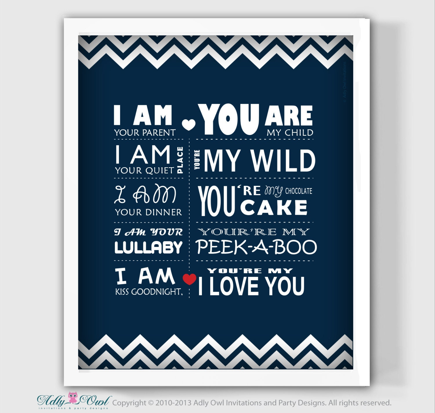 I Love My Children Quotes I Am Your Parent You Are My Child Nautical Nursery Wall Decor