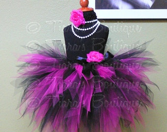 Rockstar - Custom Sewn 3 Tiered Pixie Tutu - made-to-order - sizes Newborn up to 5T