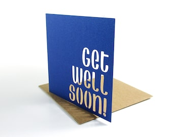 "Handmade get well soon card | handmade card | get well card | ""get well soon"" 