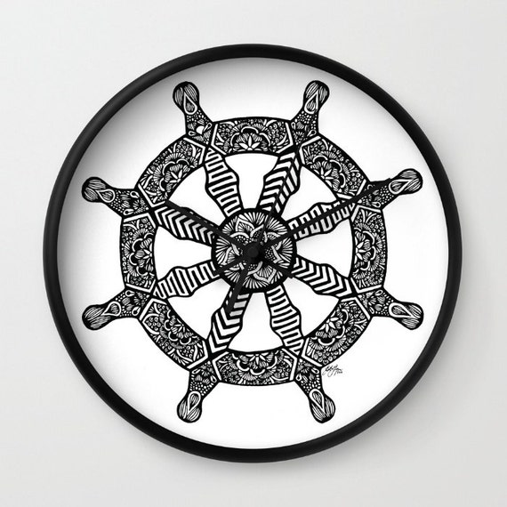 Dharma Wheel Clock