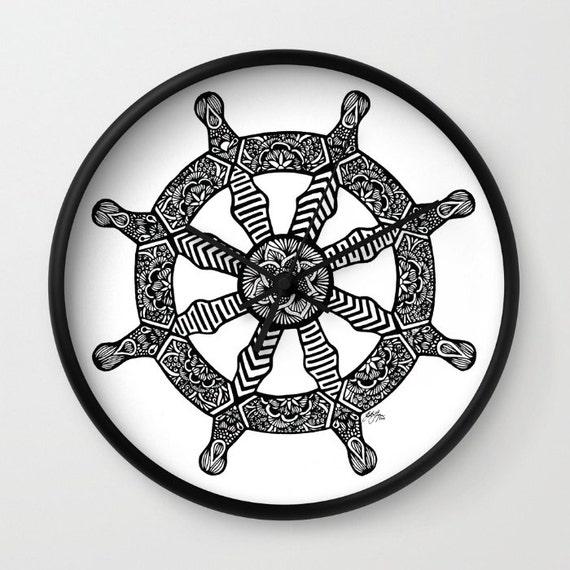 Zentangle - Dharma Wheel Clock
