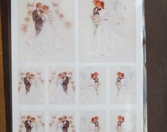 3-D Reddy Creative Cards wedding decoupage sheet