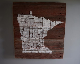 Minnesota Barn Wood Sign