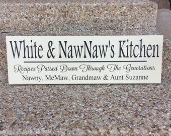 Recipe Sign ~ Kitchen Decor ~ Mimi Sign ~ Grandma's Kitchen ~ Gift For Mimi Mimi's Kitchen Sign ~ Personalized Kitchen Signs Kitchen Wal Art