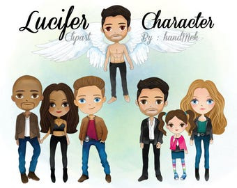 Lucifer character clipart instant Download PNG file - 300 dpi.