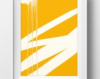 Abstract art, Orange abstract art, light tones and shades, modern wall art, original painting, instant Digital Download, wall art