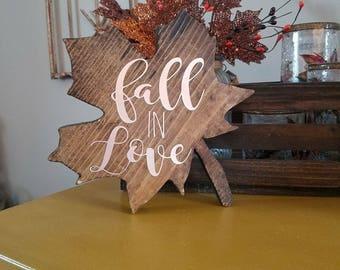 Fall in Love maple leaf