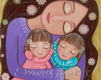Mother's Love 2, Mixed Media, Wall Decore by Evona