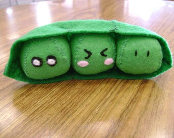 Plush Peas in a Pod Cute