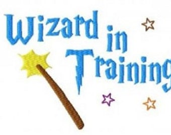 Bogo Free, Buy 1 Take 1 Embroidery Design, Wizard In Training Embroidery Design, Instant Download, Stitched,  PES format