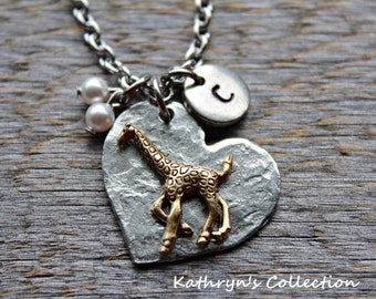 Giraffe Necklace, Giraffe Jewelry, Gift for Giraffe Lover, Please Read Full Listing Details Before Ordering