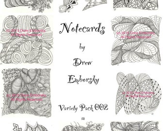 Notecards with artwork by Drew Emborsky, aka The Crochet Dude - Variety pack 2