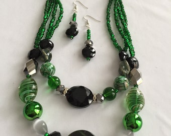 Metallic Green & Black