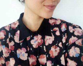 Floral pleated vintage dress