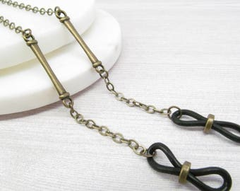Antique Brass Eyeglass Chain for Men, Reading Glasses Chain, Chain for Glasses Lanyard, Eyeglass Holder Necklace, Mens Eyeglasses Chain