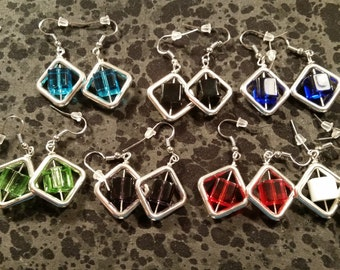 Cubed Earrings - Pick Your Color