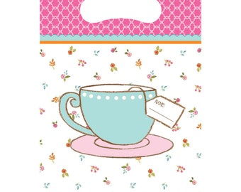 Tea Time Treat Bags [8ct] Birthday Party Favor Bag Supplies