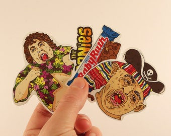 the goonies stickers laptop labels tags illustration