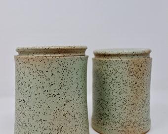 Jar,Ceramic Jar,Kitchen Canister,Ceramic Storage Jar,Kitchen Storage,Kitchen Decor,Farmhouse,Home Decor,Lidded Jar,Crock,Utensills Holder