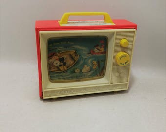 Vintage Fisher Price Giant Screen Music Box TV