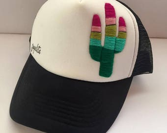Hand Embroidered Cactus Hat