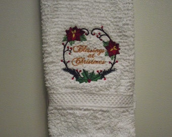 Blessings at Christmas towel kitchen / bath