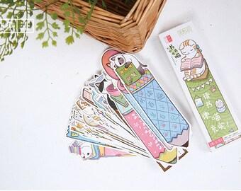 30 PCS Kawaii Cat Bookmarks