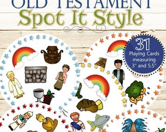 Old Testament Spot It Style Find the Match - INSTANT DOWNLOAD