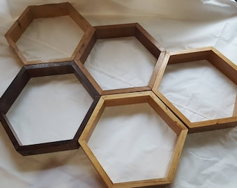 Artisan Hexagon Shadowboxes