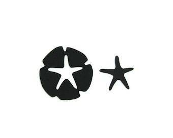 Paper Sand Dollar  and Starfish Die Cuts set of 40 (20 of each)