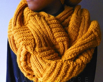 The Basketweave Textured Infinity Cowl - Unisex / Fall, Winter, Spring, Summer Fashion
