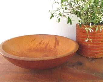 Primitive Wood Bowl Vintage Rustic Salad Wooden Bowl Dough Bowl